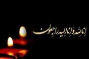 پیام تسلیت نائب رئیس هیات مدیره سازمان تامین اجتماعی در پی درگذشت همکار این سازمان
