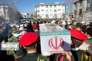 پیکر مطهر یک شهید گمنام در ستاد انتظامی کرمانشاه آرام گرفت