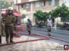 برگزاری مانور آتش نشانان در بیمارستان
