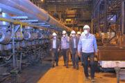 بازدید از روند تکمیل پروژه نصب قفسه ۷ نورد گرم و اصلاح خط ریختهگری یک مجتمع فولاد سبا