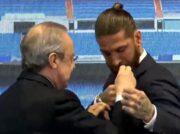 اعطای نشان طلایی باشگاه رئال به راموس