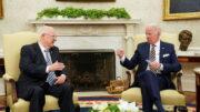 """ریولین در دیدار با بایدن: روابطمان """"عالی"""" است/ اسرائیل دوستی بزرگتر از آمریکا ندارد"""