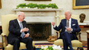 """ریولین در دیدار با بایدن: روابطمان """"عالی"""" است/ بایدن: تعهدمان به اسرائیل """"سفت و سخت"""" است"""