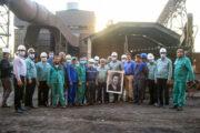 بازدید مدیر عامل فولاد هرمزگان از ریخته گری ، LF و کوره ۱